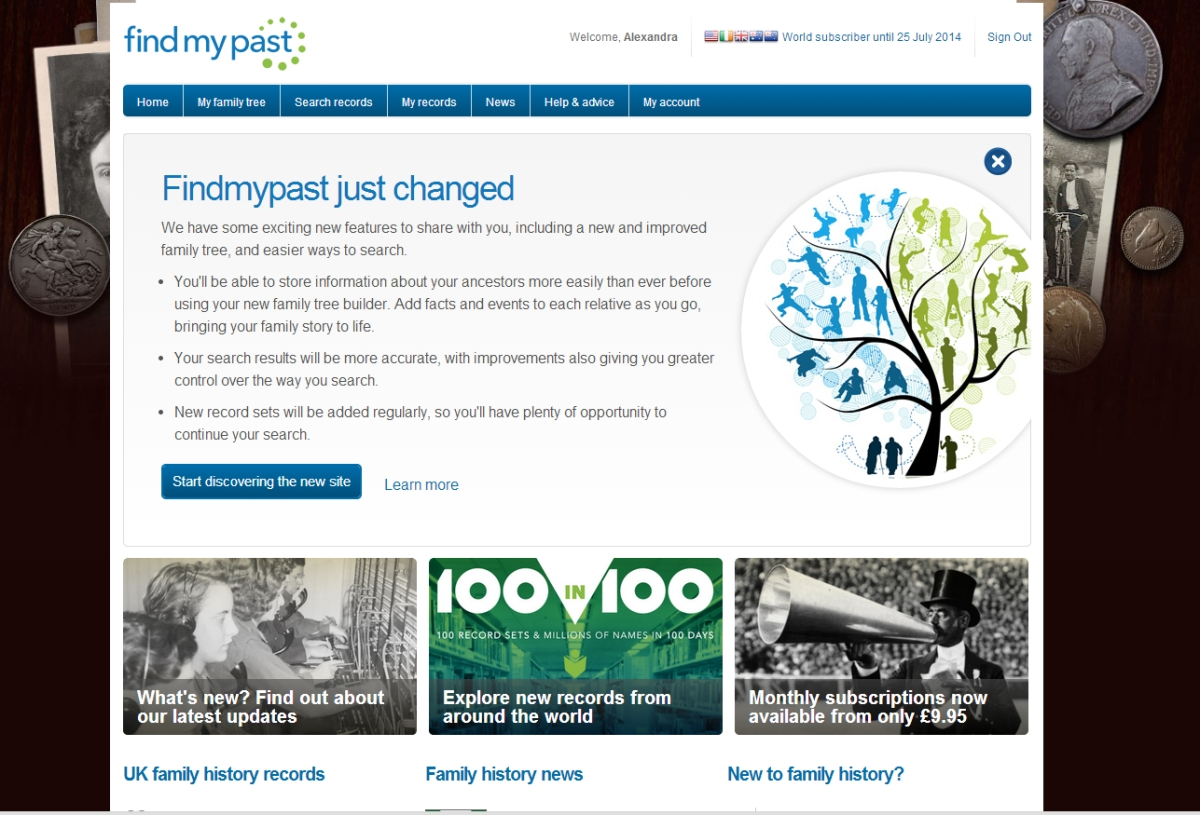 Findmypast's new layout - like it or loathe it?